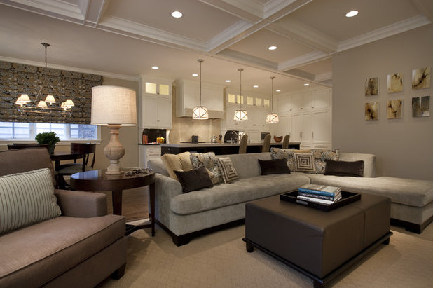 American Traditional Family Room by Michael Abrams Interiors