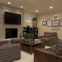 contemporary media room by Michael Abrams Limited