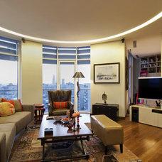 Contemporary Family Room by Neslihan Pekcan/Pebbledesign