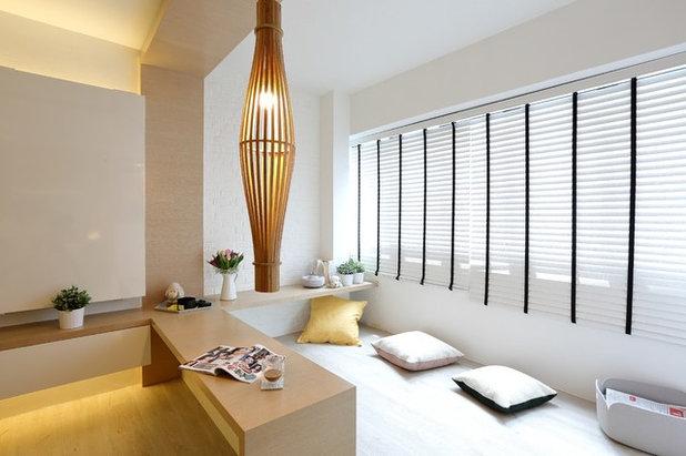 Scandinavian Family Room by Arte Living Design Studio Pte Ltd