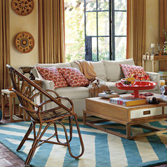 eclectic living room by Serena & Lily