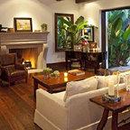 Hollywood Chic Living Room Mediterranean Family Room