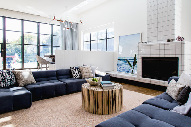 Contemporary Family Room by Seahaven Interiors