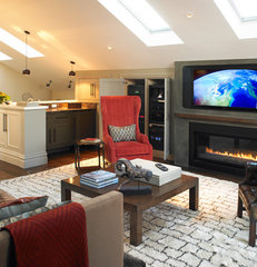 traditional media room by Mueller Nicholls Cabinets and Construction