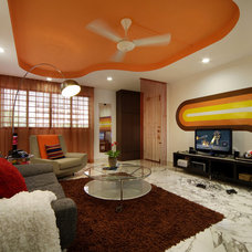 Contemporary Family Room by Max T