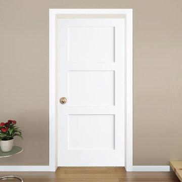Shaker Door - White, 3 panel