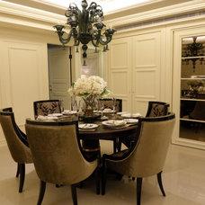 Contemporary Family Room Shaker Interior design