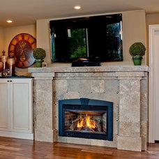 Traditional Family Room by Logan's Hammer Building & Renovation