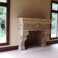 Traditional Family Room by American Masonry Supply, Inc.