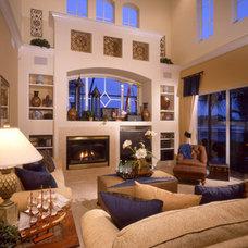 Tropical Family Room by Sharp Design Studio