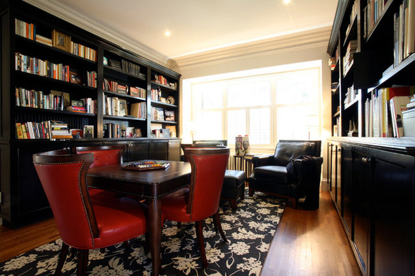 Traditional Family Room by Oliver Simon Design