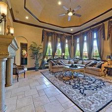 Mediterranean Family Room by Versailles Luxury Homes, Inc.