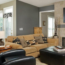 Eclectic Family Room by Kathleen Ramsey, Allied ASID