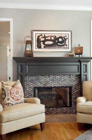 Painted Mantel Home Design Ideas Pictures Remodel And Decor