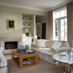 traditional family room by Laurel Feldman Interiors, IIDA