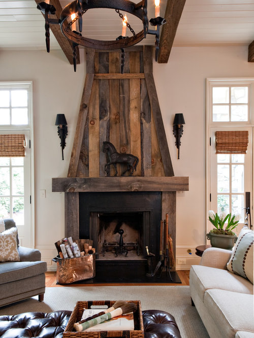 Cabin Fireplace Home Design Ideas Pictures Remodel and Decor