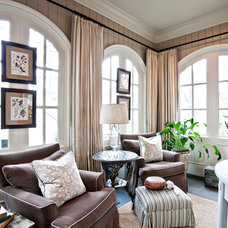 Traditional Family Room by sherry hart
