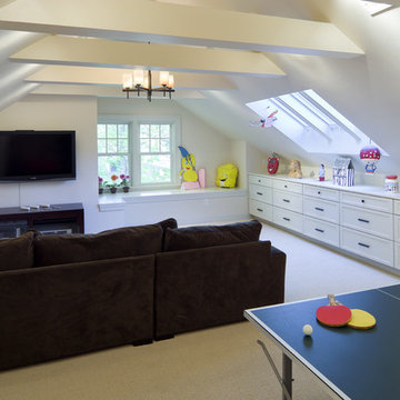 Shingle Style Attic Play Area