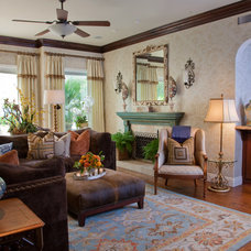 Mediterranean Family Room by Leanne Michael L U X E lifestyle design