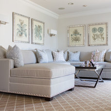 Transitional Family Room by DRP Interiors