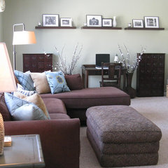 contemporary family room by Shoshana Gosselin