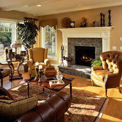 traditional family room by Witt Construction