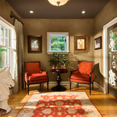 eclectic family room by Witt Construction