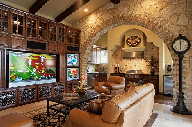 Mediterranean Family Room by Jenkins Custom Homes