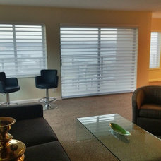 Contemporary Family Room by Anchor Blinds