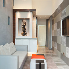 Contemporary Family Room by GEORGE Interior Design