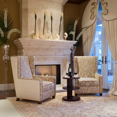 Tropical Family Room by Silver Sea Homes