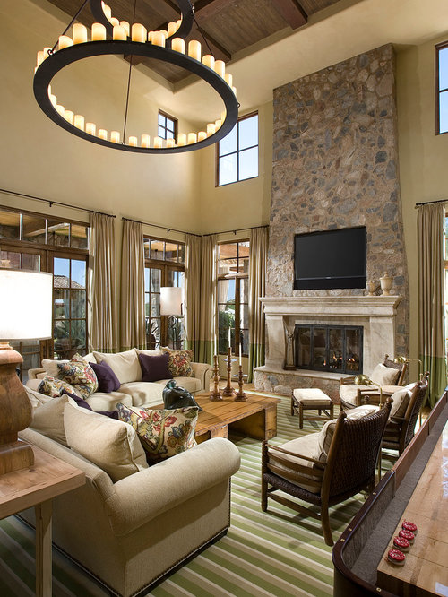 Mediterranean living room design ideas remodels photos for Mediterranean living room