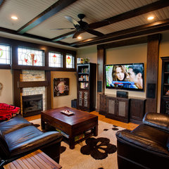 traditional media room by Norelco Cabinets Ltd
