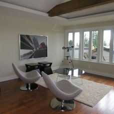 Contemporary Family Room by Werner Construction Ltd.