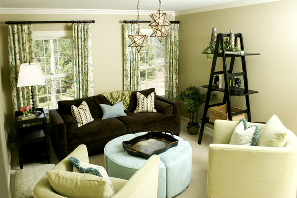 Contemporary Family Room by Chelle Design Group