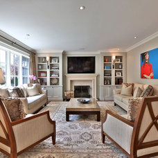 Traditional Family Room by David Nosella Interior Design