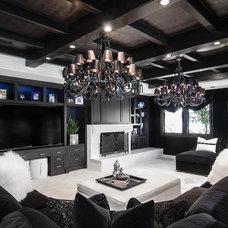 Contemporary Family Room by Orange Coast Interior Design