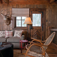 Rustic Family Room by Lohss Construction