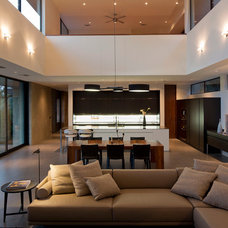 Contemporary Family Room by Jon Luce Builder