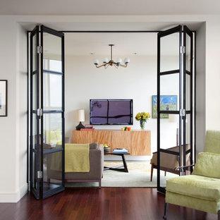 Immagine di un soggiorno contemporaneo chiuso