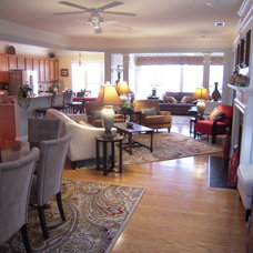Traditional Family Room by Angela Thee