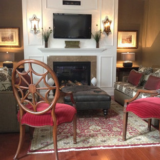 Inspiration for an eclectic family room remodel in Philadelphia
