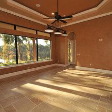 Mediterranean Family Room by MJS Inc. Custom Home Designs