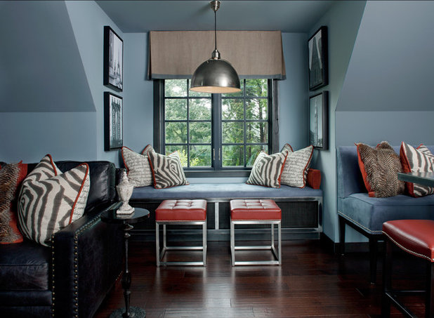 Contemporary Family Room by Jeffrey King Interiors