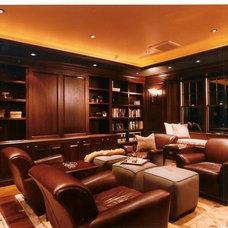 Contemporary Family Room by Raymond Interiors