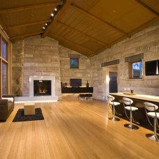 Contemporary Family Room by KGO STONE, The Natural Stone Company