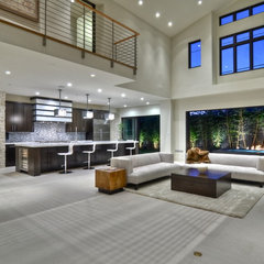 contemporary family room by Brandon Architects, Inc.