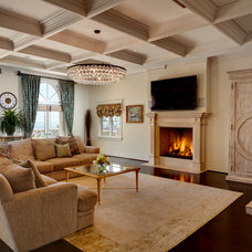 traditional family room by SO/DA Inc.