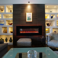 Contemporary Family Room by Victor Myers Custom Homes & Real Estate