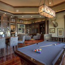 Traditional Family Room by Dorlom Construction
